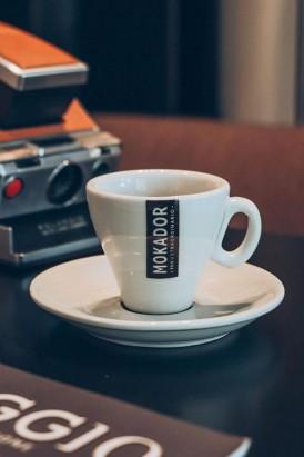 Porcelain espresso coffee cup set Mokador set of 12