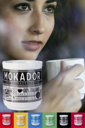 Ceramic coffee mug Mokador