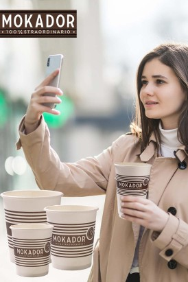 Paper coffee cup Mokador Coffee to Go