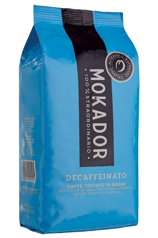 Decaffeinated Premium Coffee Beans Mokador Decaffeinato